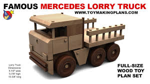Free Easy Wood Toy Plans by Wood Toy Plan Free Mercedes Lorry Truck Youtube