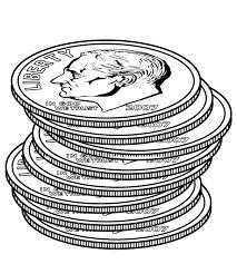 clipart money money clipart black and white clipartix