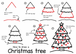 draw christmas tree christmas lights decoration