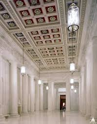 supreme court building architect of the capitol united states the main corridor known as the great hall has double rows of monolithic marble