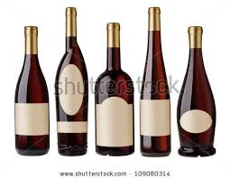 unique shaped wine bottles different shape wine bottles blank stock photo 109080314