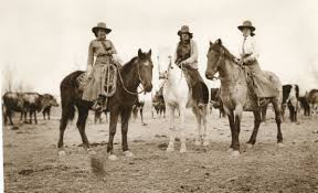 old western cowboys and horses