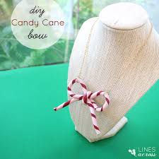 candy cane bow necklace simple christmas craft you can wear or