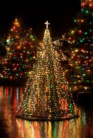 lighted christmas tree trendy design ideas lighted outdoor christmas tree trees 4