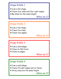 2d and 3d shape riddle cards by grayj teaching resources tes