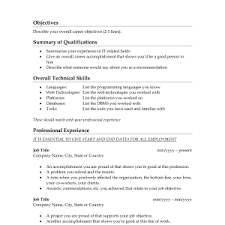 Great Resume Summary Cover Letter Sample Objectives Resume Free Sample Objectives For
