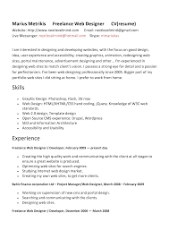 Graphic Designers Resume Samples Freelance Web Designer Resume Sample Resume For Your Job Application