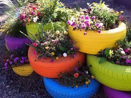 Gardening Ideas Pinterest Garden Gardening Garden Ideas Tire Planters Painted Tires