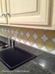 spice up your kitchen backsplash with a stencil stencil stories