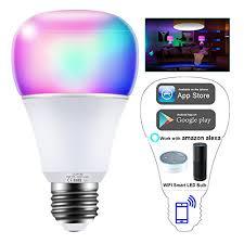alexa light bulbs no hub wifi smart light bulb intelligent lights 5w rgbw color changing
