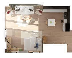studio layout layout ideas two ways to arrange a square studio apartment