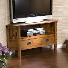Oak Corner Fireplace by Tv Stand Amazon Com Carson Oak Corner Media Stand Kitchen Dining