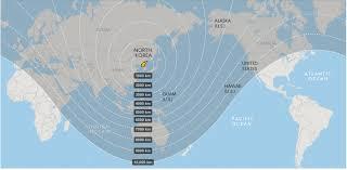Nuclear Bomb Map Could North Korea Bomb Hawaii How Far Is Hawaii From North Korea
