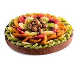 the nuttery premium dried fruit and nuts classic circular gift platter