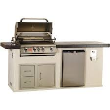bull outdoor products outdoor kitchen with 4 burner angus gas