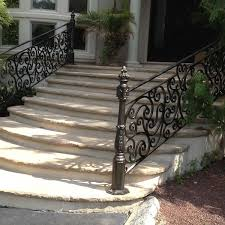 Outdoor Banisters And Railings Exterior Wrought Iron Railings Outdoor Wrought Iron Stair Railings