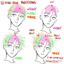 anime hairstyles tutorial reference to draw hair credits to viria that s rough buddy