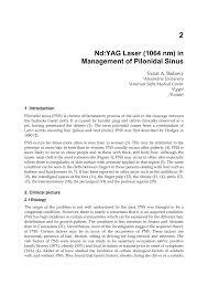 pilonidal cyst histology nd yag laser 1064 nm in management of pilonidal sinus pdf