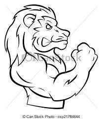 eps vector strong lion csp21784644 clip art