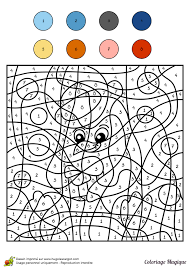 coloriage magique cm1 pingouin color by number for and