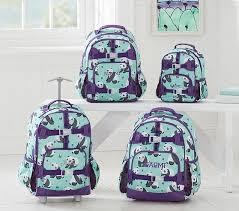 Pottery Barn Kids International Shipping Mackenzie Aqua Panda Backpack Pottery Barn Kids
