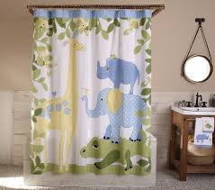 Jungle Curtains For Nursery Safari Shower Curtain Pottery Barn