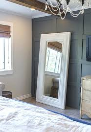 whole wall bathroom mirrors an oversized floor mirror occupies the