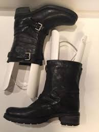womens leather boots size 12 aquatalia by marvin k s size 12 moto black leather