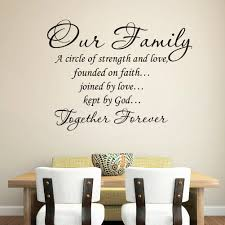wedding quotes together our family together forever quotes wall stickers for living room
