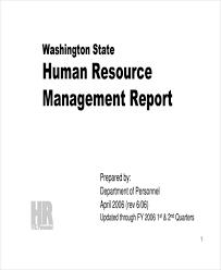 hr management report template 11 sle hr report templates free premium templates