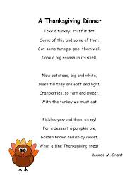 thanksgiving poems for thanksgiving