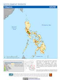 Philippines Map World by Maps Settlement Points V1 Sedac