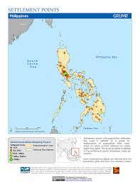 Phillipines Map Maps Settlement Points V1 Sedac