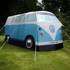 vw minivan camper volkswagen van camping tent