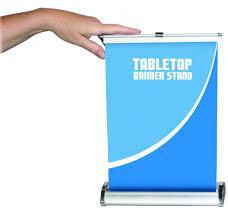 breeze retractable table top bannerstand uca branding inc