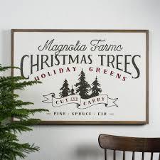 magnolia farms christmas trees sign u2013 magnolia market