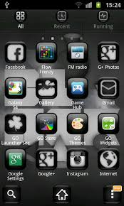 free launchers for android black theme go launcher free android app android freeware