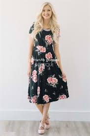 best place to buy bridesmaid dresses black pink peony floral pocket dress best place to buy modest