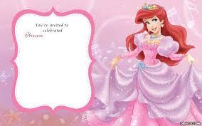5th disney princess u2013 bagvania free printable invitation template