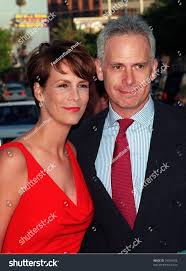 27jul98 actress jamie lee curtis husband stock photo 93594628
