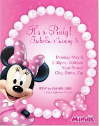 minnie mouse template invitation free pink minnie mouse