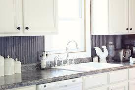 tin backsplash for kitchen corrugated tin backsplash kitchen home design ideas