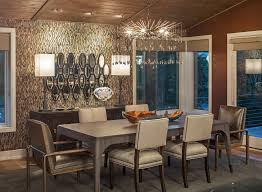 san francisco transitional dining room with iron chandelier