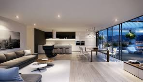 Kitchen Livingroom by Spacious Modern Living Room Interiors