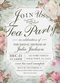 bridal shower tea party invitations afternoon tea party invitation template bridal shower tea party