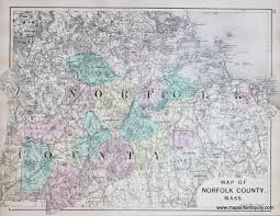 Massachusetts County Map by Map Of Norfolk County Mass Antique Maps And Charts U2013 Original