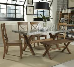6 Piece Dining Room Sets by Liberty Furniture Keaton 6 Piece Trestle Table And X Back Side