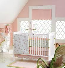 Penelope Bedding Pottery Barn Nursery Notations Pink U0026 Green Nursery Bedding