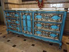 ornate vintage dresser in distressed off white dresser paint