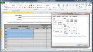 Construction Punch List Template Excel Excel 2010 Construction Punch List Part I Create Table